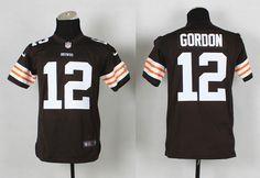 Youth Cleveland Browns 12 Josh Gordon brown 2014 Nike Jerseyscheap nfl  jerseys f489767b2