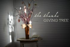The Thanks Giving Tree - free printable from Ann Voskamp