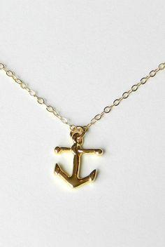 anchor necklace. 14k gold filled.