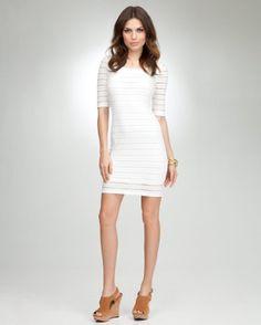 bebe Knit Eyelet Dress