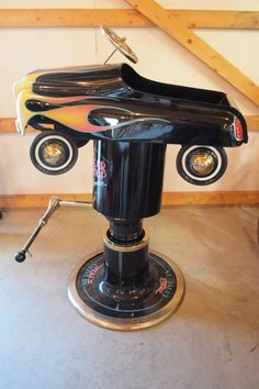 """Child's barber chair with pedal car seat, """"Mel's"""