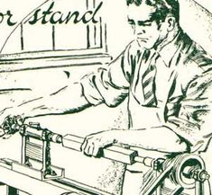 Plans How to Build an Old Wood Treadle Lathe