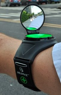The Rear Viz cycling gadget moves the mirror from the handlebars to your body
