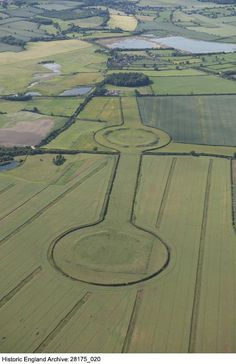 Thornborough Henges 28175_020 Thornborough Henges, North Yorkshire. Three henges on the north bank of the River Ure, which form part of a wider ritual landscape including a cursus, mortuary enclosures and Bronze Age barrows. The nearest henge survives as a cropmark, while the further two henges retain significant earthworlks.