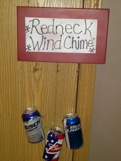Fun, easy craft for your favorite redneck. Who wouldn't want a beer can wind chime?
