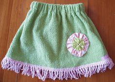 vintage chenille skirt ... so sweet