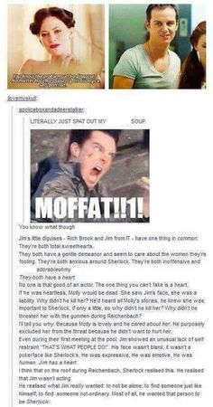 Moriarty theory. I agree with all of this except the bit about Molly. I think he didn't believe Sherlock cared about Molly.
