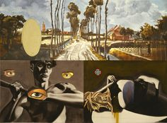 David Salle   Landscape with Two Nudes and Three Eyes, 1986