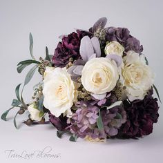 This item is unavailable Purple wedding bouquet Purple bridal bouquet Lavender Silk Bridal Bouquet, Purple Wedding Bouquets, Plum Wedding, Flower Bouquet Wedding, Bridesmaid Bouquet, Bridal Bouquets, Dream Wedding, Rustic Romance Wedding, Corsage And Boutonniere