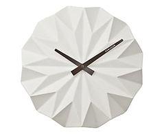 Orologio da parete in ceramica Origami - d 27 cm