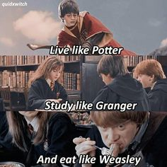 Like, Live, and Love. The three most important things for Hogwarts. Harry Potter Film, Magie Harry Potter, Harry Potter Jokes, Harry Potter Pictures, Harry Potter Fandom, Harry Potter Characters, Harry Potter World, Harry Potter Hogwarts, Plus Tv