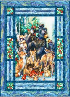 Season of Peace Free Pattern: Robert Kaufman Fabric Company Quilting Projects, Quilting Designs, Quilting Ideas, Sewing Projects, Quilt Block Patterns, Quilt Blocks, Quilt Boarders, Wildlife Quilts, Horse Quilt