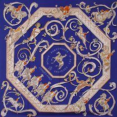 Hermes scarf Ecole equestrian Portugaise d'art de Equestre