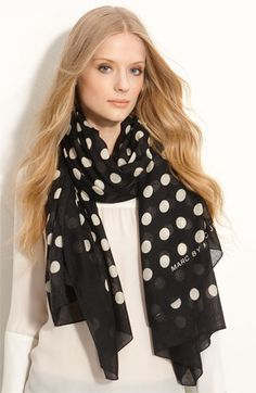 MARC BY MARC JACOBS 'Hot Dot' Cashmere & Silk Scarf $208    I originally wanted i in the pink, but I can't find it.