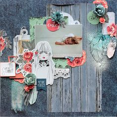 Elena Olinevich: Boho Dreams Layout and a Card Layout Inspiration, Creative Inspiration, General Crafts, Scrapbooking Layouts, Scrapbook Paper, Cardmaking, Craft Supplies, Artsy, Paper Crafts