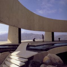 """American Architect John Lautner designed the vast Casa Marbrisa for the Mexican supermarket magnate Jeronimo Arango"