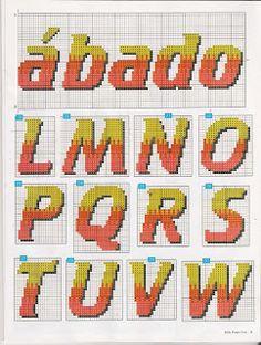 Sandrinha Ponto Cruz: Semaninha de verão Crochet Projects, Cross Stitch, Letters, Mini, Sandrinha, Wallpapers, Gallery, Cross Stitch Alphabet, Cross Stitch Embroidery