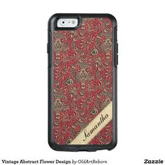 Vintage Abstract Flower Design OtterBox iPhone 6/6s Case
