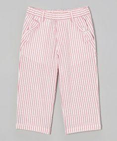 Love this Pink & White Seersucker Pants - Toddler & Girls by Sophie & Sam on #zulily! #zulilyfinds