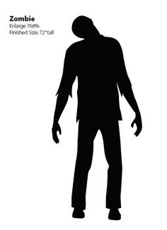 Zombie window silhouette -free template - cheap decoration