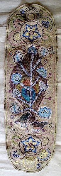 Anne Kelly Textiles - Flower Bird Tree