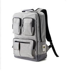 Stylish light weight backpack using sturdy fabric. Inner compartment for laptop. Use for school bag and for work * Color : Gray and photos Laptop Backpack, Black Backpack, Waterproof Backpack, Cool Technology, School Bags, Green And Grey, Leather Bag, Backpacks, Etsy