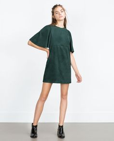 Image 1 of FAUX SUEDE DRESS from Zara