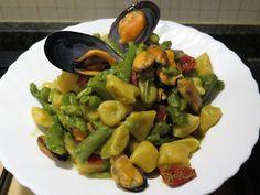 Gnocchetti+cozze+asparagi+e+pomodorini