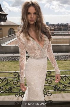 Berta Embellished Mesh Mermaid Gown (In Stores Only)