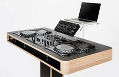 Stereo T DJ Table by  Hoerboard. Technology and design in perfect synthesis. Read more at jebiga.com #design #technology #music #DJ