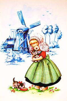 My mother sang this song to me: I am a pretty little Dutch girl, as pretty as pretty can be, and all the boys on my block are crazy over me.