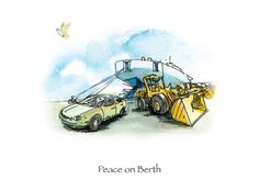 Peace on Berth. A holiday card for the Georgia Ports Authority. 1 in a series of 4.