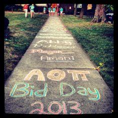 Bid Day! #AOII