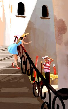 """""""Lets go for a ride!""""   I drew this based off a photo I took in Venice, Italy. Such a beautiful city :) -vivedessins.tumblr.com"""