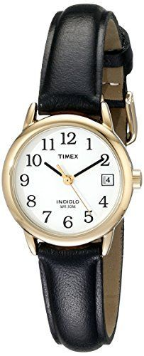 Timex Women's T2H341 Easy Reader Black Leather Strap Watch - http://dressfitme.com/timex-womens-t2h341-easy-reader-black-leather-strap-watch/