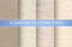 4 Canvas Texture Pack Graphics 4 Canvas Texture Pack contains high-resolution dpi) .EPS files, and smal by Morgana Lamson