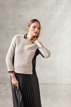 Ravelry: Alloy pattern by Michele Wang // I would knit a contrast collar on it too, like the shirt collar she's got here.