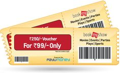 Pay Just Rs.99 and Get a Bookmyshow Voucher worth Rs.250 on Paying Through PayU Money