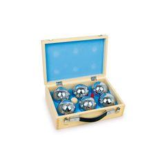 Und das klassische Boule Set im Holzkoffer