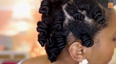 Sleek Bantu Knot Out On Blown Out Natural Hair