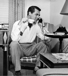 Coffee and Cary Grant