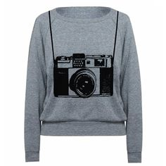 Womens Sweatshirt Vintage Camera Tri-Blend Raglan Pullover - American... ($28) ❤ liked on Polyvore
