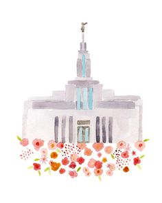 LDS Draper Utah Temple Print Giclee by HollyBrookeJones on Etsy