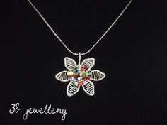 #small and #playful #flower with #colourful #beads #3bjewellery #wirewrapping #GettingBetter