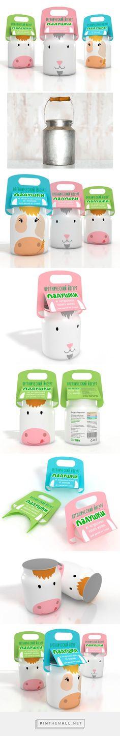 Ladushki Kid's #Yogurt #packaging by Elena Pyrko - http://www.packagingoftheworld.com/2015/01/ladushki-kids-yogurt-student-project.html