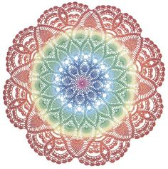 Brilliant Tatting Cotton-Variegated Baby Pink. Gorgeous colors to make #crocheted doilies like this one.