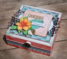 Heartfelt Creations- Under the Sea Collection Beach Treasure Box Scrapbooking Altered Item Papercrafting Stamping Die Cuts