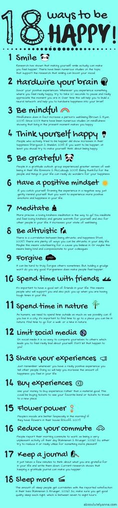 18 simple AND scientifically proven ways to live a little happier! Tips on how you can experience more happiness in your everyday life. 18 actually proven ways.
