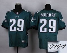 """$23.88 at """"MaryJersey""""(maryjerseyelway@gmail.com) Nike Eagles 29 DeMarco Murray Midnight Green Team Color Men Stitched NFL Elite Autographed Jersey"""