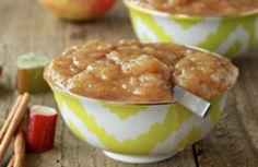 Cinnamon rhubarb applesauce | Kitchen Treaty